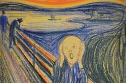 [Η φωτογραφία είναι έργο του Νορβηγού ζωγράφου, Έντβαρντ Μουνκ (1863-1944), «Η Κραυγή»]